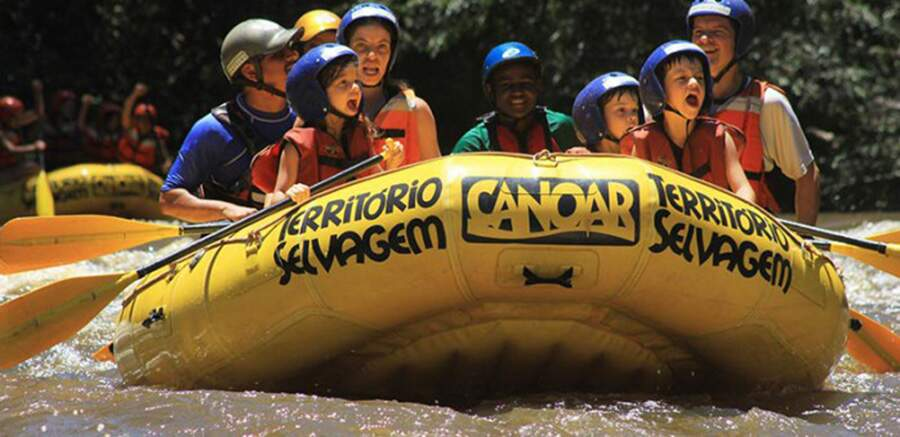 Rafting no interior de sp